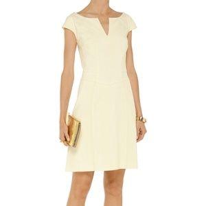 Zac Posen Cream texture crepe cap sleeve Dress NWT